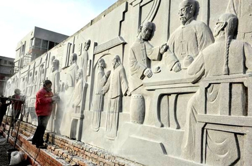 安徽桐城路浮雕墙