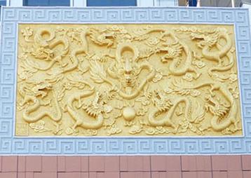九龙大酒店室外装饰浮雕