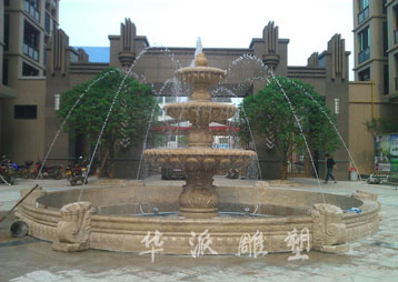 湖南长沙石雕喷泉制作、施工